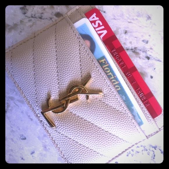 bf72273d3d6 Yves Saint Laurent Accessories | Ysl Monogram Card Case In Grain De ...